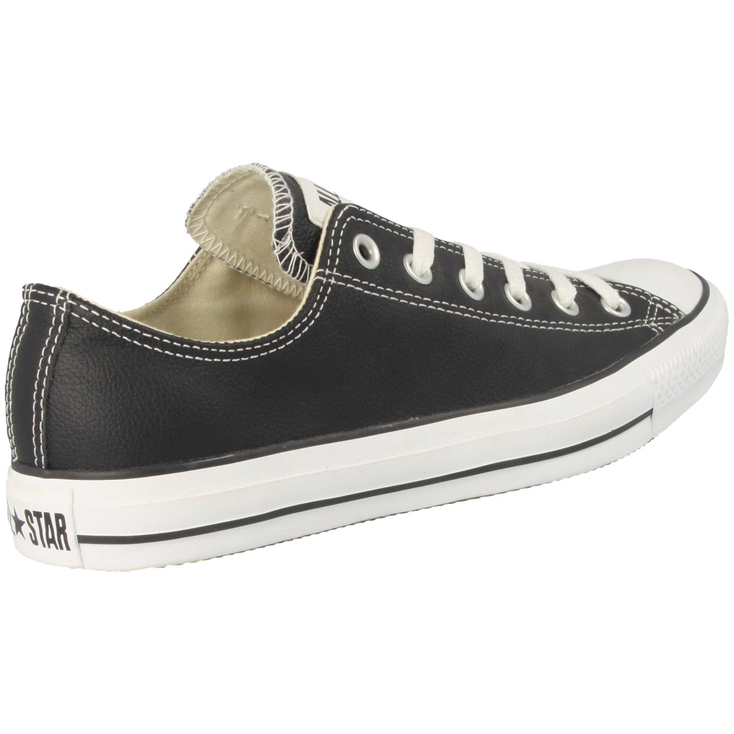 Converse Leather Shoes in Black for Men d213f7ef9187